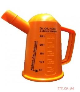 Мерная лейка 500 мл для приготовления топливных смесей (до 25 литров)