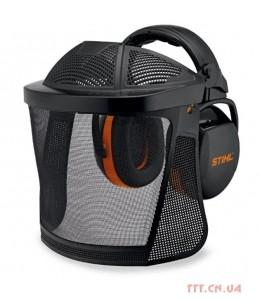 Захист лиця (нейлонова сітка) з навушниками і додатковим захистом голови