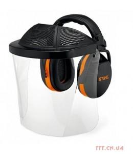 Захист лиця (полімерний екран) з навушниками