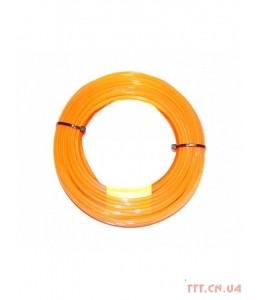 Корд триммерный Husqvarna 2.4 мм / 70 м Quadra Donut Orange