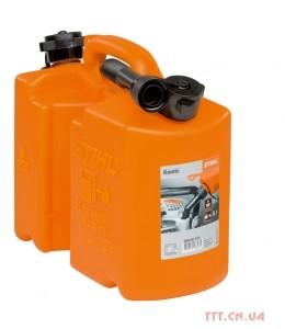Комбіканістра помаранчева стандартна 5 л для паливної суміші і 3 л для мастила для ланцюга