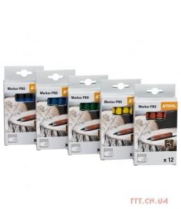 Крейда для маркування стовбурів дерев, жовтий, 12 штук в упаковці