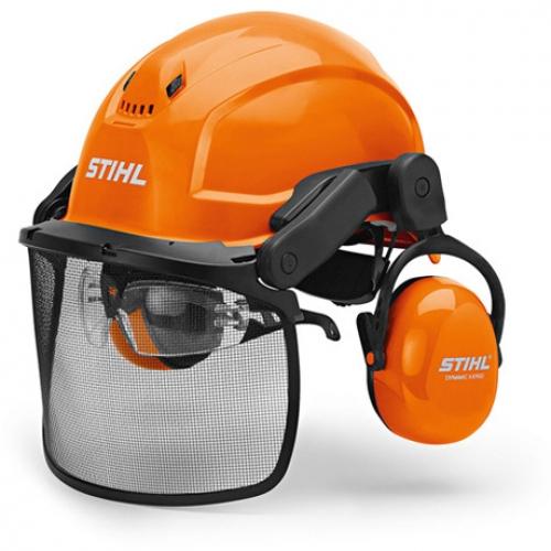 Шлем защитный с сеткой (металл) и наушниками, DYNAMIC X-Ergo
