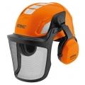 Шлем защитный с сеткой (металл) и наушниками, ADVANCE Vent